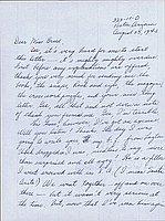[Letter to Clara Breed from Fusa Tsuamagari, Poston, Arizona, August 23, 1943]