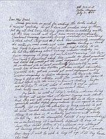 [Letter to Clara Breed from Fusa Tsumagari, Poston, Arizona, July 21, 1943]