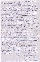 [Letter to Clara Breed from Louise Ogawa, Poston, Arizona, April 6, 1944]