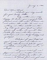 [Letter to Clara Breed from Margaret Ishino, Poston, Arizona, January 6, 1942]