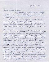 [Letter to Clara Breed from Margaret Ishino, Poston, Arizona, April 6, 1943]