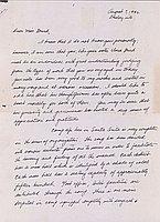 [Letter to Eleanor Breed from Yukio Tsumagari, Arcadia, California, August 7, 1942]