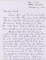[Letter to Clara Breed from Tetsuzo (Ted) Hirasaki, Poston, Arizona, November 16, 1942]