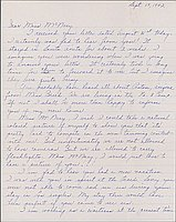 [Letter to Helen McNary from Louise Ogawa, Poston, Arizona, September 17, 1942]
