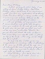 [Letter to Helen McNary from Louise Ogawa, Poston, Arizona, January 27, 1943]