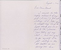 [Letter to Clara Breed from Yaeko Hirasaki, Arcadia, California, August 11, 1942]