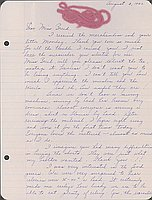 [Letter to Clara Breed from Louise Ogawa, Arcadia, California, August 3, 1942]