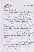 [Letter to Clara Breed from Louise Ogawa, Poston, Arizona, September 14, 1943]