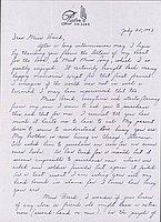 [Letter to Clara Breed from Louise Ogawa, Poston, Arizona, July 25, 1943]