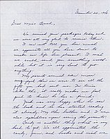 [Letter to Clara Breed from Hisako Watanabe, Poston, Arizona, December 22, 1943]