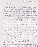 [Letter to Clara Breed from Tetsuzo (Ted) Hirasaki, Poston, Arizona, August 27, 1943]