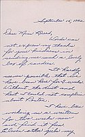 [Letter to Clara Breed from Margaret and Florence Ishino, Poston, Arizona, September 15, 1942]