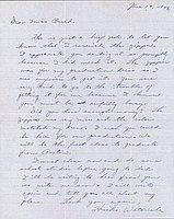 [Letter to Clara Breed from Hisako Watanabe, Poston, Arizona, June 10, 1943]