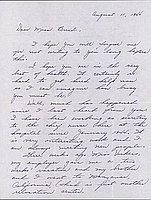 [Letter to Clara Breed from Hisako Watanabe, Poston, Arizona, August 11, 1944]