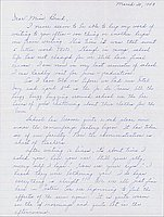 [Letter to Clara Breed from Louise Ogawa, Poston, Arizona, March 20, 1943]