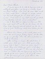 [Letter to Clara Breed from Louise Ogawa, Poston, Arizona, March 20, 1943]