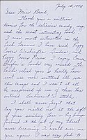 [Letter to Clara Breed from Louise Ogawa, Arcadia, California, July 15, 1942]