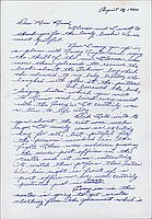 [Letter to Clara Breed from Margaret Ishino, Arcadia, California, August 18, 1942]