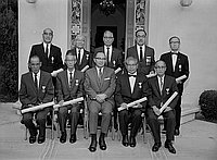 [Kunsho award presentation at residence of Consul General of Japan, Los Angeles, California, June 27, 1968]