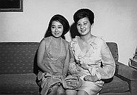[Ichikawa's daughter and friend, Los Angeles, California, June 30, 1968]