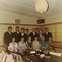 [Welcome dinner for Mr. T. Ueda, President of Tokyo Mainichi, at Kyoto Sukiyaki, Gardena, California, June 1968]