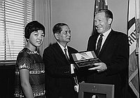 [Governor Katsuya Sato of Nagasaki visits Los Angeles Mayor Sam Yorty at Los Angeles City Hall, Los Angeles and at his home in Studio City, California, August 26, 1968]