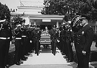 [Funeral of Los Angeles Police officer Gary W. Murakami at Utter McKinley Wilshire Chapel, Los Angeles, California, September 9, 1968]