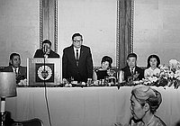[Party for Bishop Tsuji of the Buddhist Churches of America at Statler Hilton, Los Angeles, California, September 13, 1968]