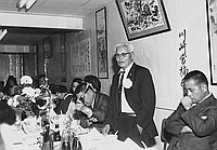 [Party honoring Tsunekutzu Kawasaki at San Kwo Low restaurant, Los Angeles, California, September 15, 1968]