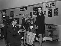 [Japanese camera show opening reception at Japan Trade Center, Los Angeles, California, October 31, 1968]