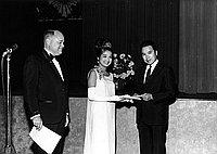 [Victor M. Carter and 1967 Nisei Week queen Joanne Uehara, 1968]