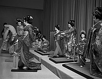 [Japanese doll exhibition in Sun building, Los Angeles, California, February 5, 1968]