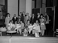 [Thomas Abe and families with five adoptees from Japan, California, April 5, 1968]