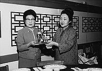 [Installation of new president of Nikkei Fujinkai, California, March 9, 1969]