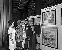 [Shoun Igarashi art exhibition at Sumitomo Bank, Los Angeles, California, June 26, 1969]