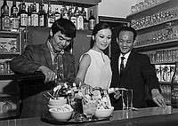 [George Lim's restaurant opening in Chinatown, Los Angeles, California, June 30, 1969]