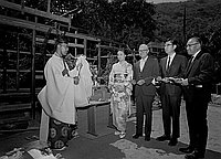 [Miss Nagoya at airport, tea house blessing, and public appearances, Los Angeles, California, August 15 and September 9, 1969]