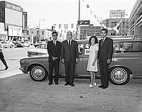 [Goodwill Tour Toyota automobile and Japanese students with Consul General of Japan, Los Angeles, California, August 22, 1969]