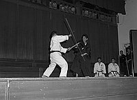 [Martial arts demonstration at Koyasan Buddhist Temple, Los Angeles, California, September 14, 1969]