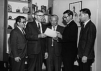 [New GOP county charter presentation to Japanese American Republican at Soichi Fukui's home, California, November 11, 1969]