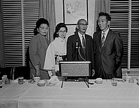 [Hiroshima Mayor at San Kwo Low restaurant, Los Angeles, California, 1969]
