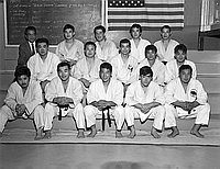 [Southern California Judo representatives to Chicago Nationals, California, 1969]