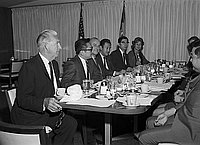 [Nagoya-Los Angeles Sister City delegation luncheon at Los Angeles City Hall, Los Angeles, California, October 1969]