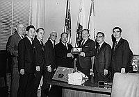 [Wakayama Governor Masao Ohashi at Los Angeles International Airport and Los Angeles City Hall, Los Angeles, California, January 15-16, 1970]