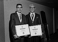 [Boy Scouts of America Silver Beaver award presentation to Jack Masumoto and Harry S. Nako at the Los Angeles Biltmore, Los Angeles, California, February 3, 1970]