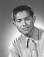 [Kawasaki, head and shoulder portrait, Los Angeles, California, April 21, 1951]