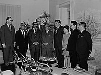 [Shunichi Matsumoto at Japanese League for the Return of the Northern Territories press conference at residence of Consul General of Japan, Pasadena, California, April 18, 1970]