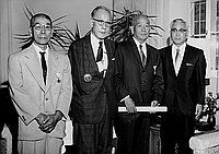 [Kunsho award presentation at Consul General of Japan's residence, Pasadena, California, May 22, 1970]