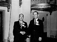 [Mitsubishi Trading Company changing managers at Biltmore Hotel, Los Angeles, California, July 7, 1970]