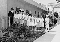 [Staff and patients of Gardena Convalescent Home, Gardena, California, July 10, 1970]